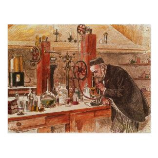 Cartão Postal Experimentação de Louis Pasteur