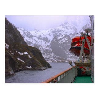 Cartão Postal Explorador intrépido, viagem norueguesa