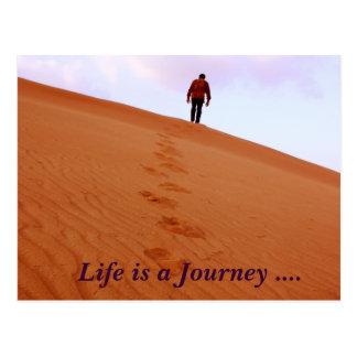 Cartão Postal Explorar, vida é uma viagem….