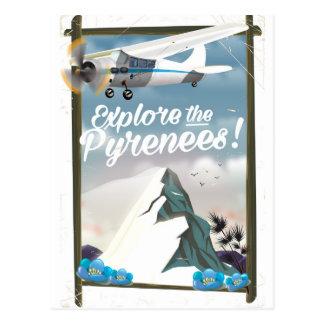 Cartão Postal Explore as montanhas do europeu de Pyrenees