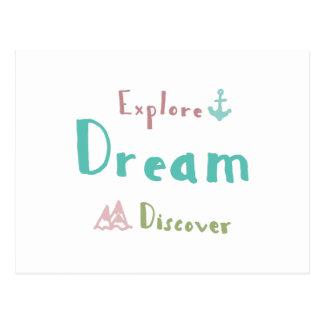 Cartão Postal Explore o sonho descobrem