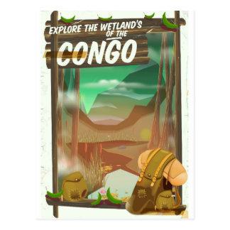 Cartão Postal Explore os pantanais do Congo