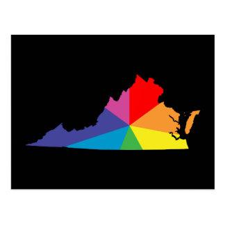 Cartão Postal explosão de cor de Virgínia