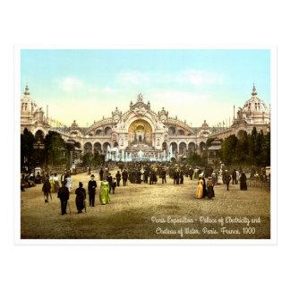 Cartão Postal Exposição de Paris do vintage de 1900