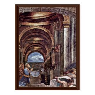 Cartão Postal Expulsão de Heliodorus do templo em Jerusal