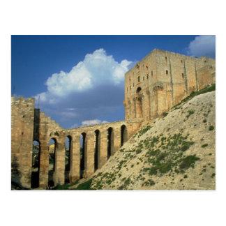 Cartão Postal Extasie a ponte e o fosso, a citadela, Aleppo, Syr