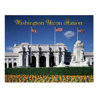 Cartão Postal Exterior da estação da união, Washington, C.C.