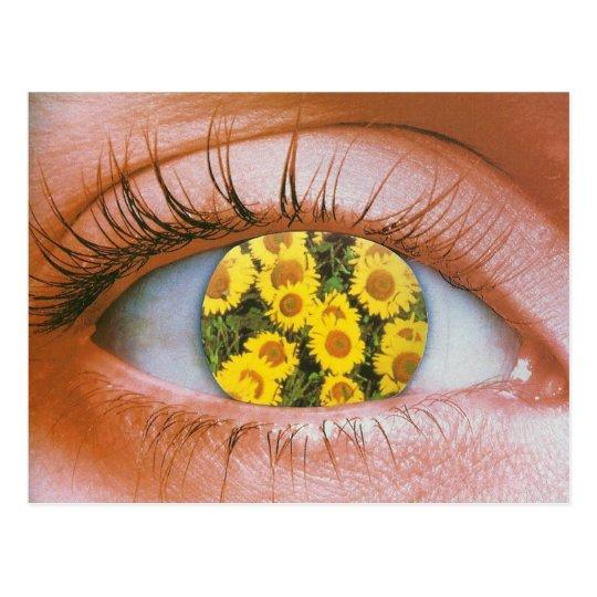 Cartão Postal Eye-flowered Postcard