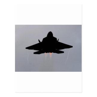 CARTÃO POSTAL F-22 QUE SAE DE GUAM