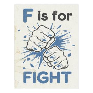 Cartão Postal F é para a luta