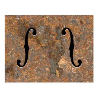 Cartão Postal F-Furos oxidados
