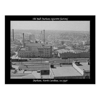 Cartão Postal Fábrica de cigarro velha de Bull Durham