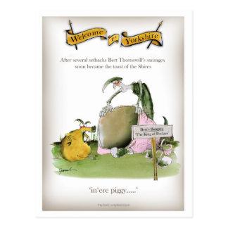 Cartão Postal fabricante da salsicha de yorkshire do amor