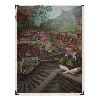 Cartão Postal Fabricante de rasgos mágicos por Ordovich
