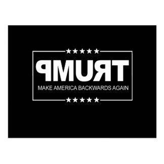 Cartão Postal Faça o sinal do Anti-Trunfo de América para trás