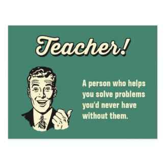 Cartão Postal Faça sua própria definição engraçada do professor