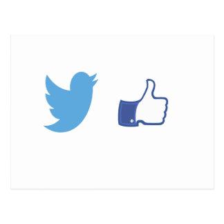 Cartão Postal Facebook Twitter