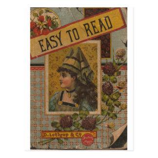Cartão Postal Fácil de ler