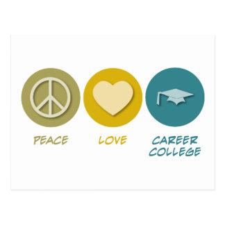 Cartão Postal Faculdade da carreira do amor da paz
