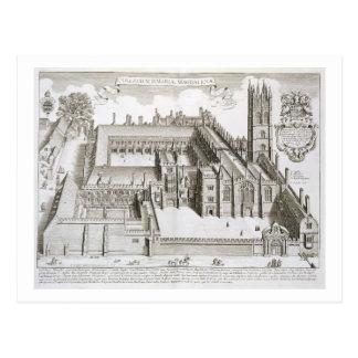 Cartão Postal Faculdade de Magdalen, Oxford, 'de Oxonia