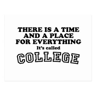 Cartão Postal Faculdade - um momento e um lugar para tudo