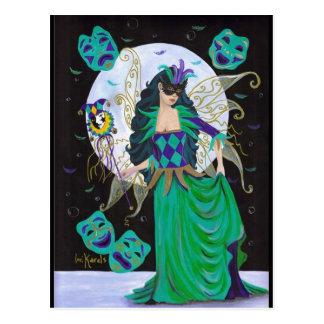 Cartão Postal Fada do carnaval