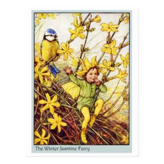 Cartão Postal Fada do jasmim de inverno