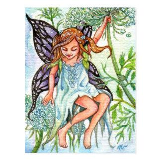 Cartão Postal Fada do laço da rainha Anne
