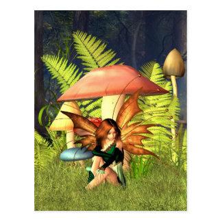 Cartão Postal Fada do Toadstool da floresta