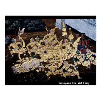 Cartão Postal Fada tailandesa da arte de Ramayana