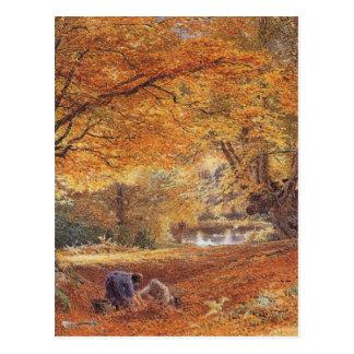 Cartão Postal Faias de Burnham - Birket adoptivo