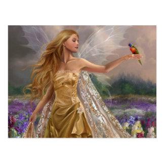 Cartão Postal Fairy vermelhas par