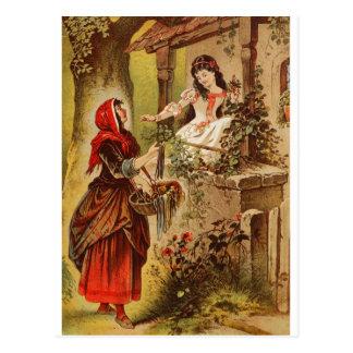 Cartão Postal Fairytalesque. Bela Adormecida e Cinderella