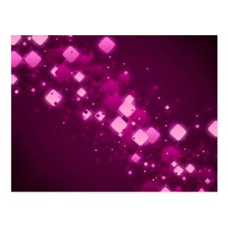 Cartão Postal Faísca quadrada cor-de-rosa