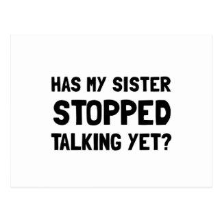 Cartão Postal Fala parada irmã ainda
