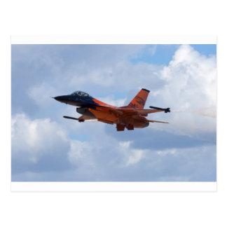 Cartão Postal Falcão F16 de combate