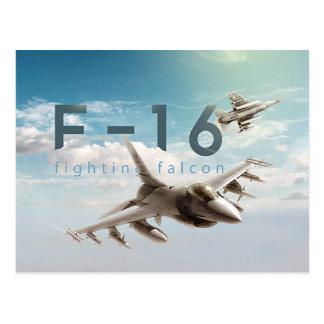 Cartão Postal Falcão F-16 de combate