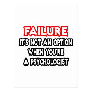 Cartão Postal Falha… não um psicólogo da opção…
