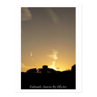 Cartão Postal Falmouth, nascer do sol pela fotografia de OllyArt