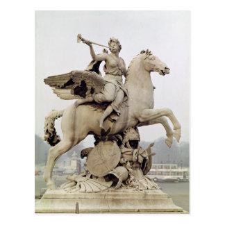 Cartão Postal Fama que monta Pegasus 1699-1702