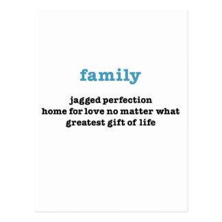 Cartão Postal Família:  Ame não importa o que