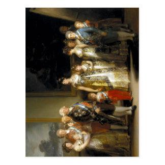 Cartão Postal Familia de Carlos do La de Francisco de Goya y