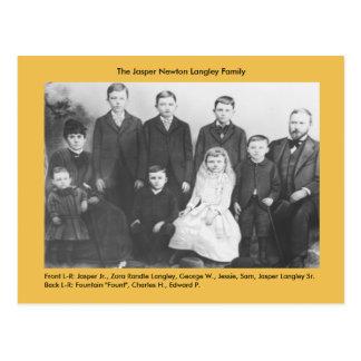 Cartão Postal Família de Newton Langley do jaspe