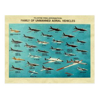 Cartão Postal Família de veículos aéreos 2nãos pilotado
