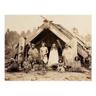 Cartão Postal Família maori, Nova Zelândia, c.1880s (impressão