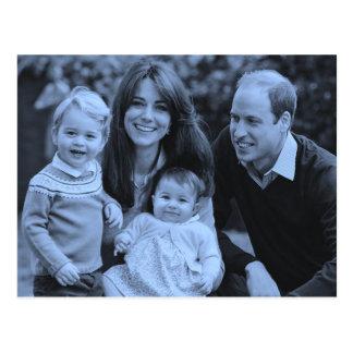 Cartão Postal Família ocasional 2015 de Kate William dos Royals