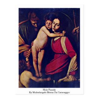 Cartão Postal Família santamente por Michelangelo Merisi a
