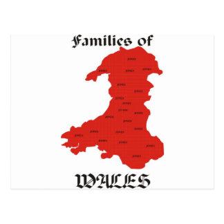 Cartão Postal Famílias de Wales