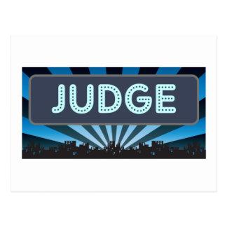 Cartão Postal Famoso do juiz