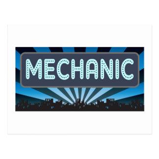 Cartão Postal Famoso do mecânico